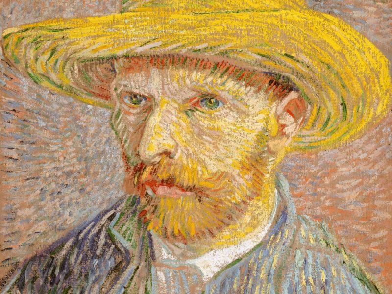 シカゴ美術館のパブリックドメインからダウンロードしました。ゴッホの自画像です。