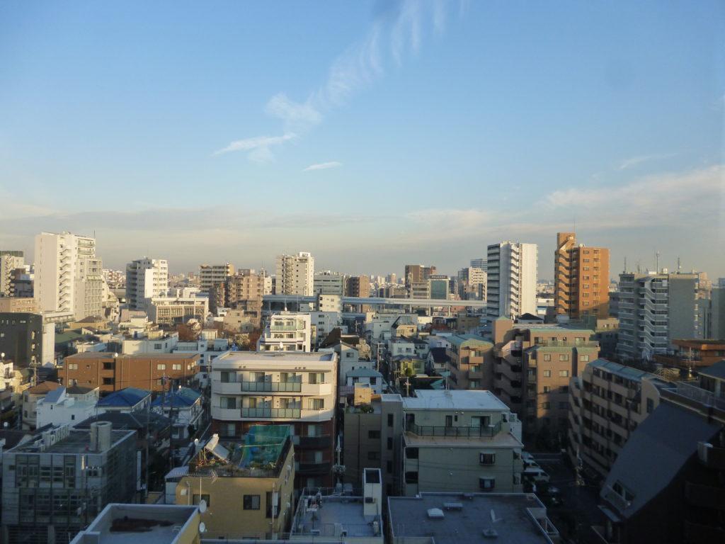 ガーラ蒲田11階からの眺望です。  蒲田の街が一望できます。
