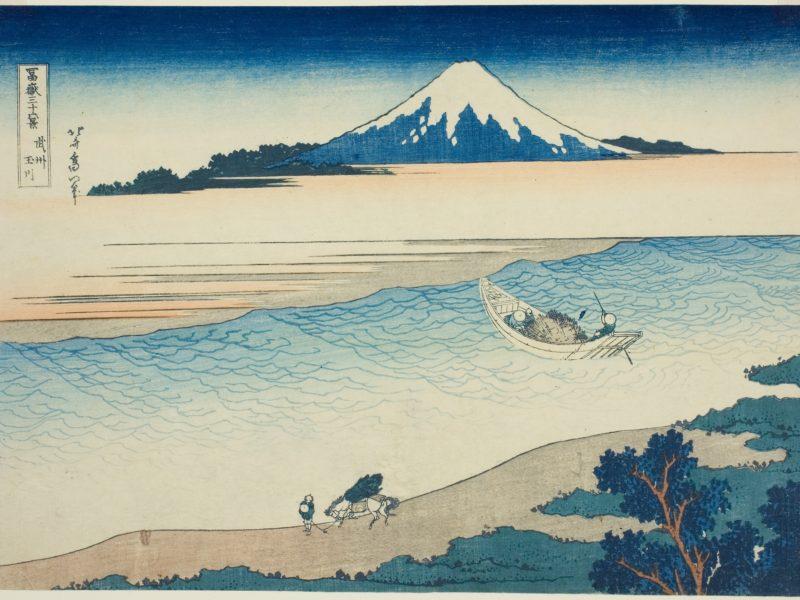 葛飾北斎の富岳三十六景の「武州玉川」です。