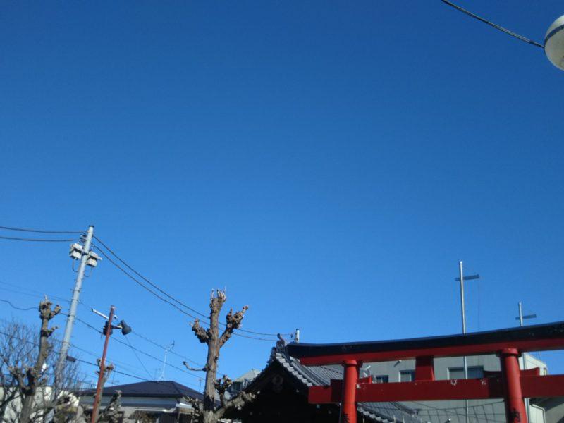 館音通りの三徳稲荷神社です。