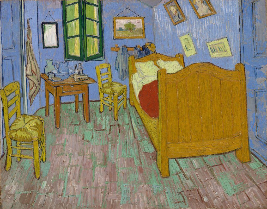 ゴッホの絵画「アルルの寝室」です。