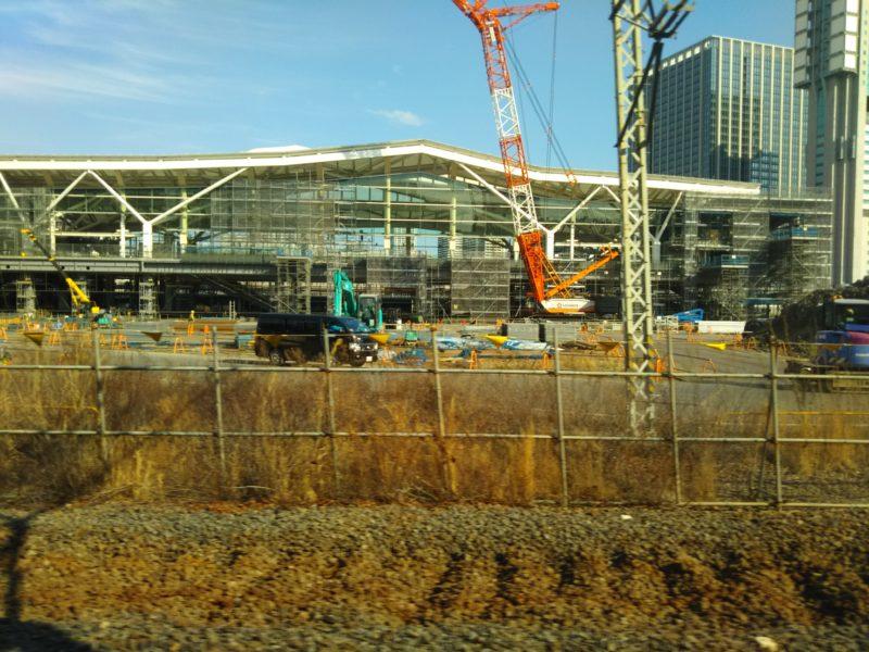 JRの新駅高輪ゲートウェイ駅です。