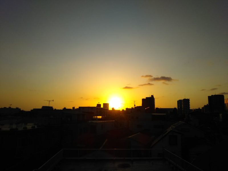 糀谷の朝日です。