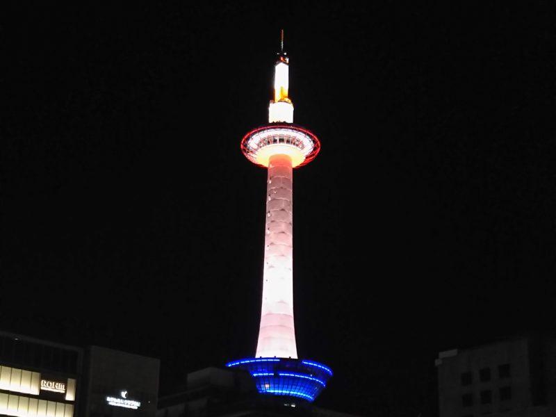 夜の京都タワーです。