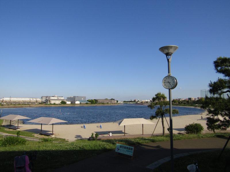 ふるさとの浜辺公園の砂浜です。