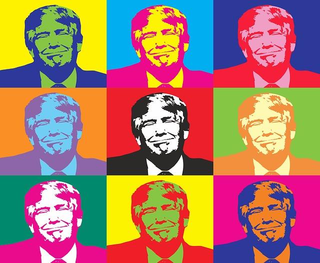 アメリカのトランプ大統領の顔の絵です。