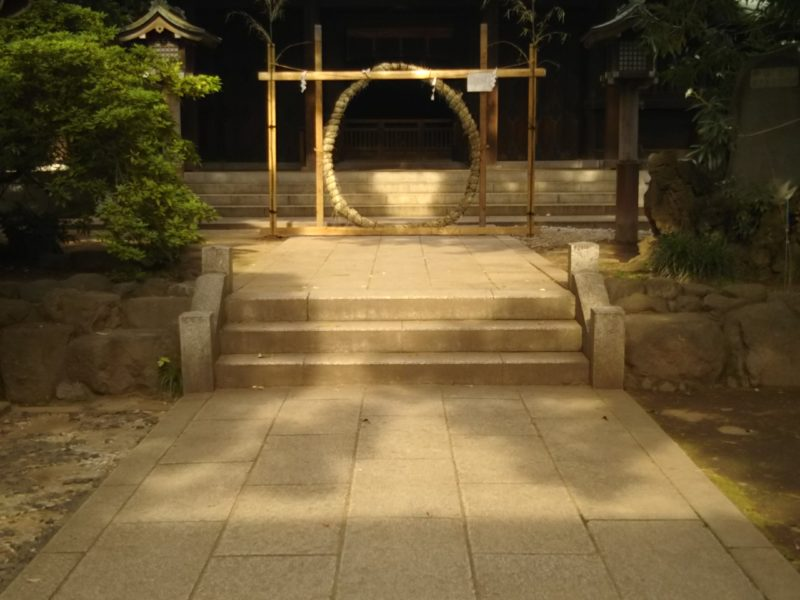 神社の茅の輪です。