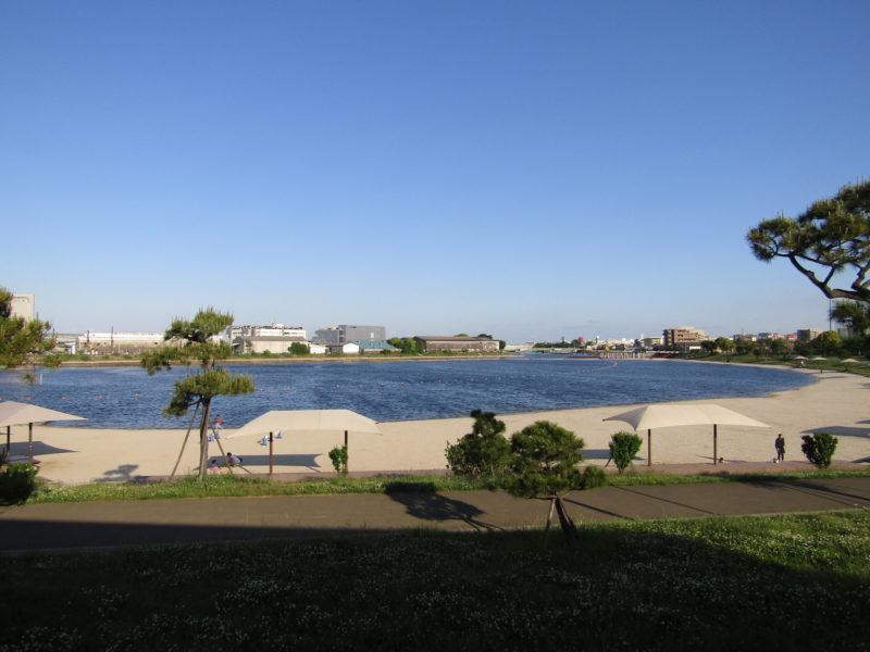 大森ふるさとの浜辺公園の浜辺です。