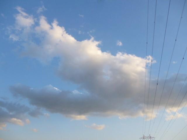 多摩川大師橋緑地の空です。