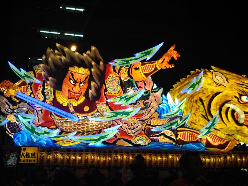 2018年の青森県のねぶた祭りです。