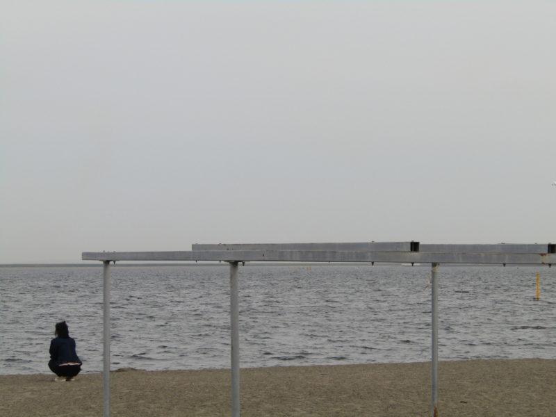 大田区の城南島海浜公園の砂浜です。