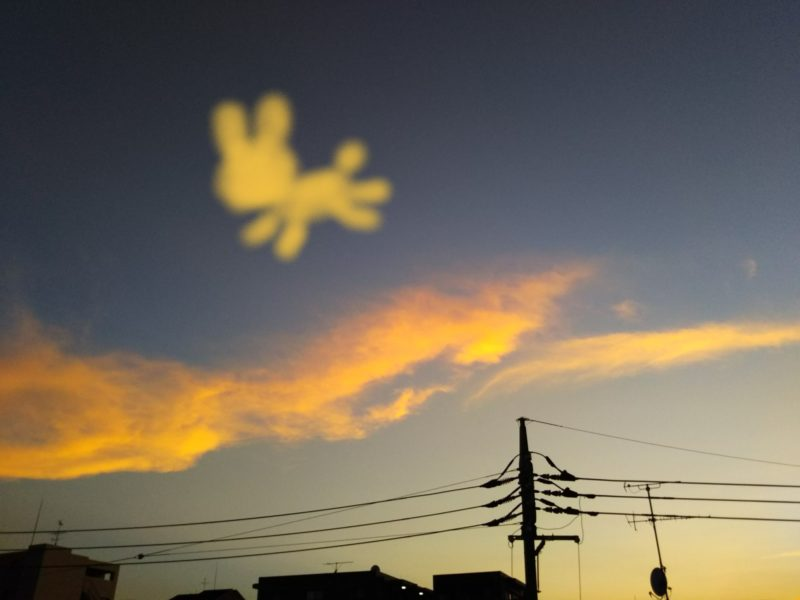糀谷の空に浮かぶうさぎたんの雲です。