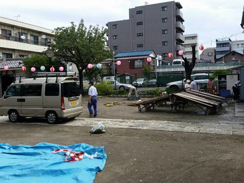 台風の翌日の朝の浜竹神社です。