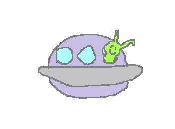 宇宙人とUFOです。