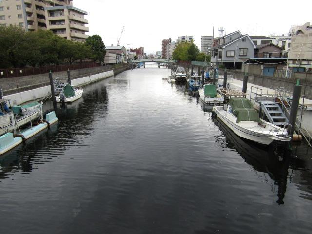 藤兵衛橋から見た呑川です。