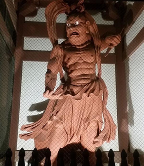 池上本門寺の仁王像の阿形像です。