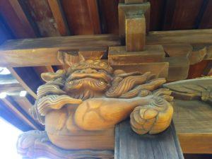 大田区西糀谷3丁目の吽形の唐獅子です。