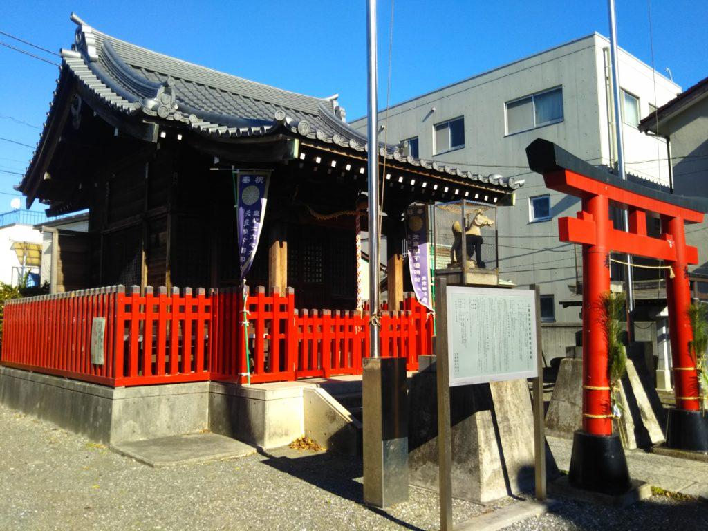 大田区西糀谷3丁目の三徳稲荷神社の本殿です。