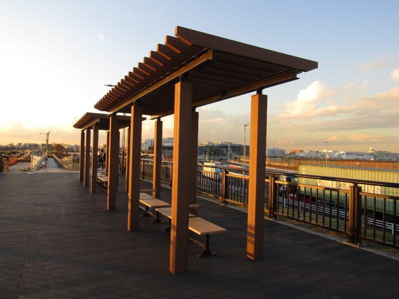 羽田空港の敷地内にある公園、ソラムナード羽田緑地です。