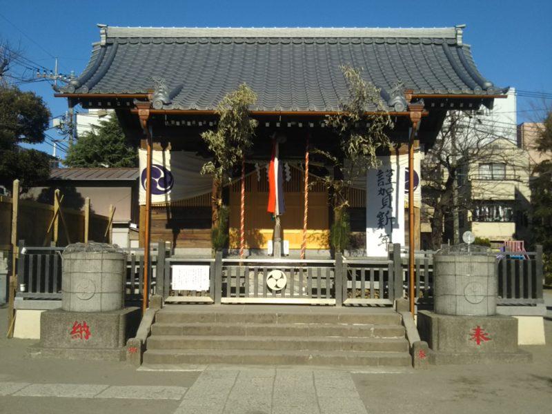 大田区西糀谷3丁目の浜竹天祖神社の本殿です。