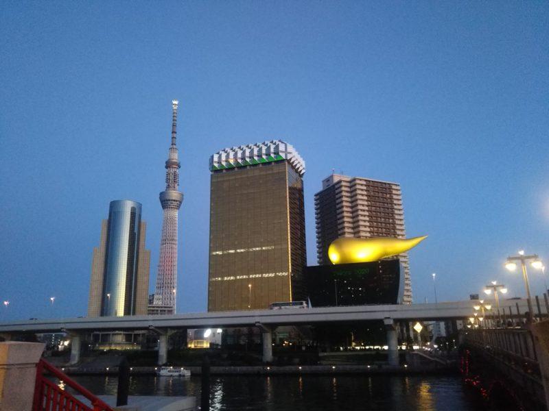 隅田川の吾妻橋から見た東京スカイツリーです。