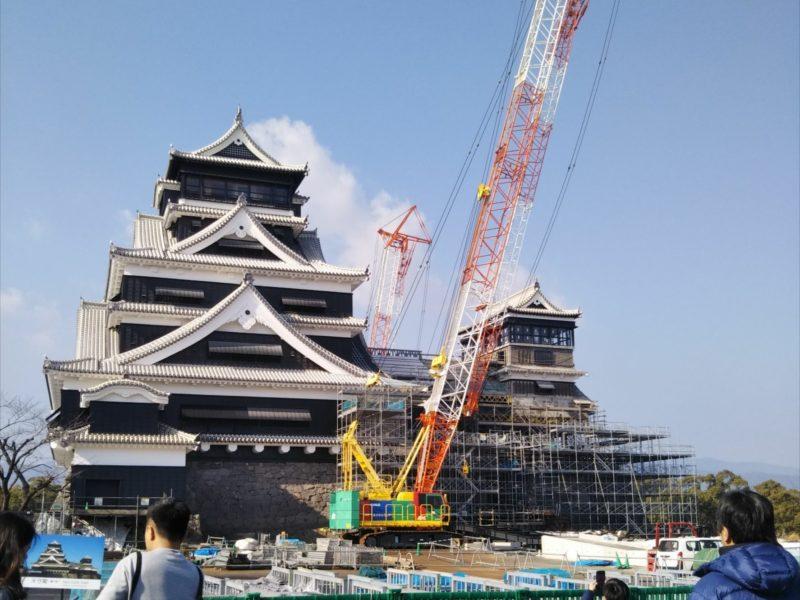 復旧の進む熊本城の天守閣です。