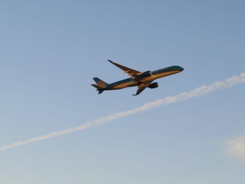 羽田空港を離陸した飛行機です。