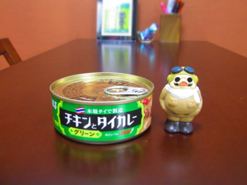 いなばのチキンとグリーンカレーの缶詰です。