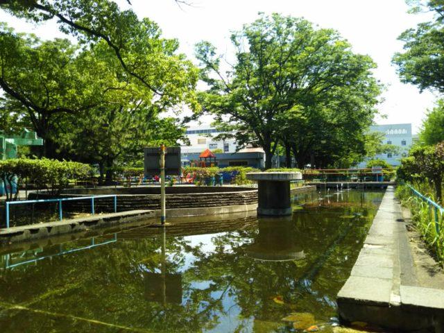 大田区萩中公園の噴水です。