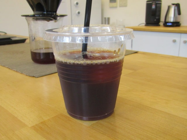 SUIJIN COFEEのアイスコーヒーです。