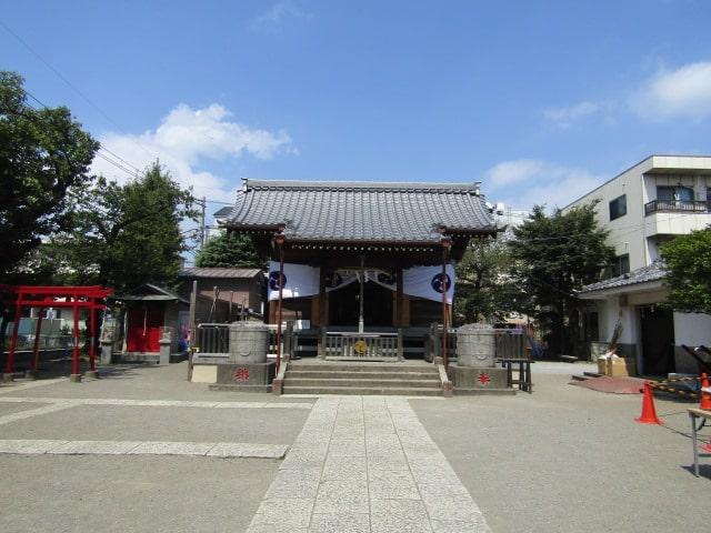 西糀谷3丁目の浜竹神社です。