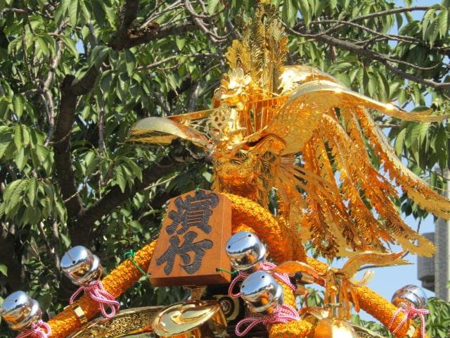 浜竹神社の大人神輿です。