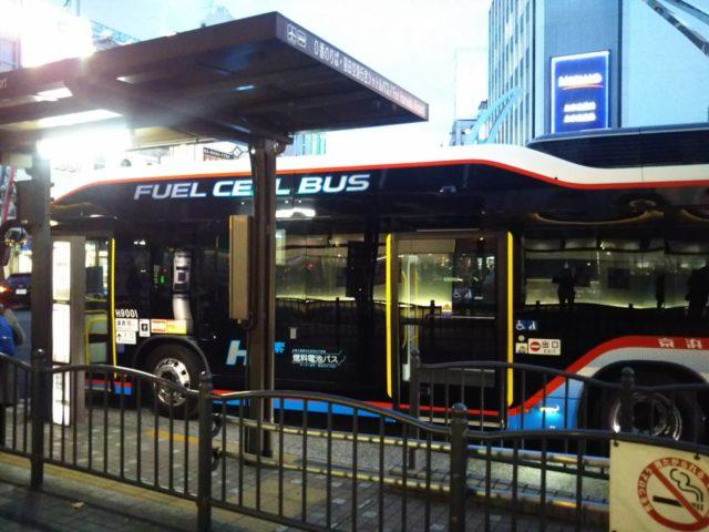 京急バスの燃料電池バスSORAです。