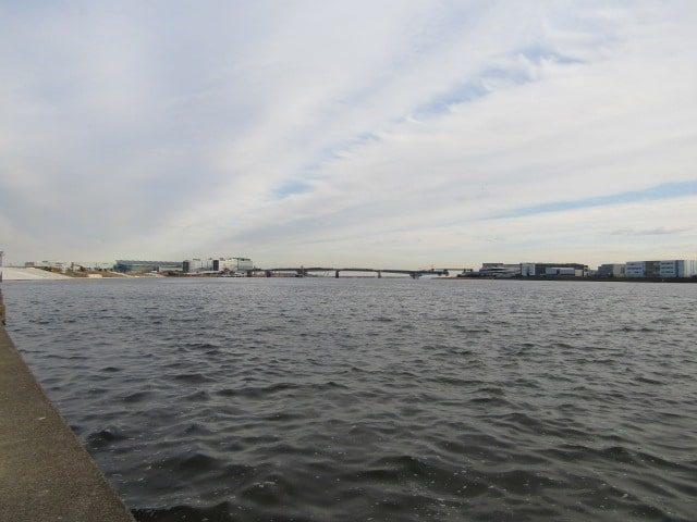 多摩川の河口付近です。