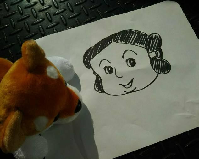 堺市博物館の公式キャラクターのサカイタケルくんの絵です。
