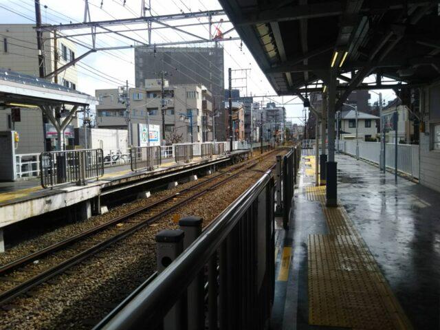 東急多摩川線の矢口渡駅ホームです。
