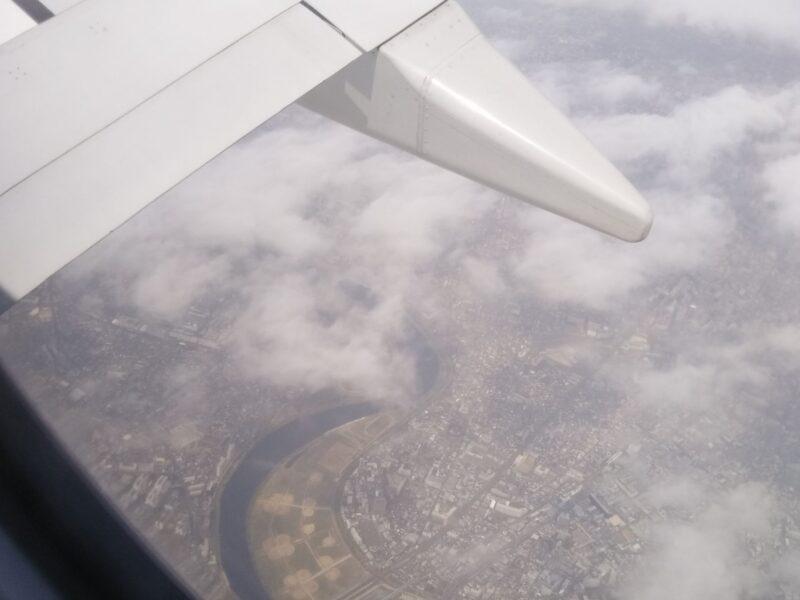 飛行機から見た多摩川です。