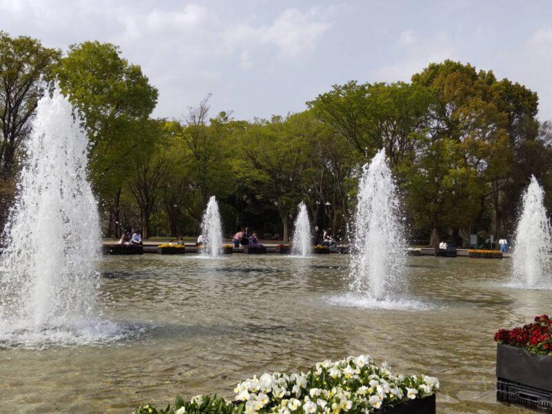 上野の噴水です。