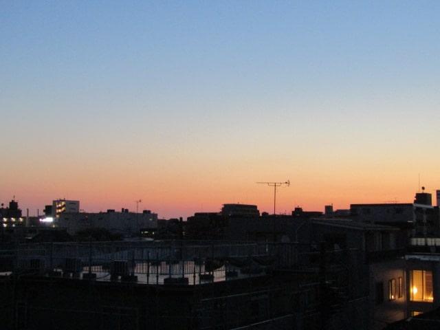 夜明けの空です。