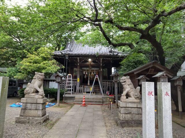 大田区西蒲田7丁目の御園神社です。