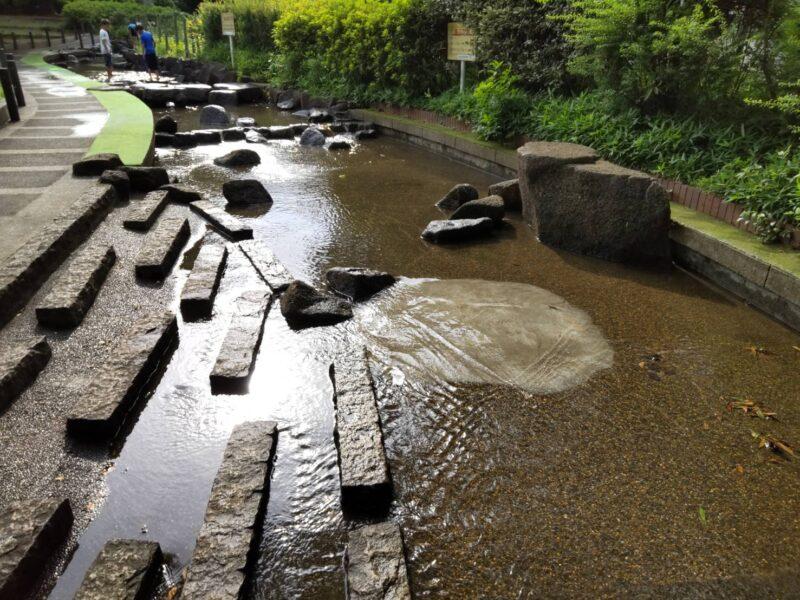 大田区萩中公園の親水施設です。