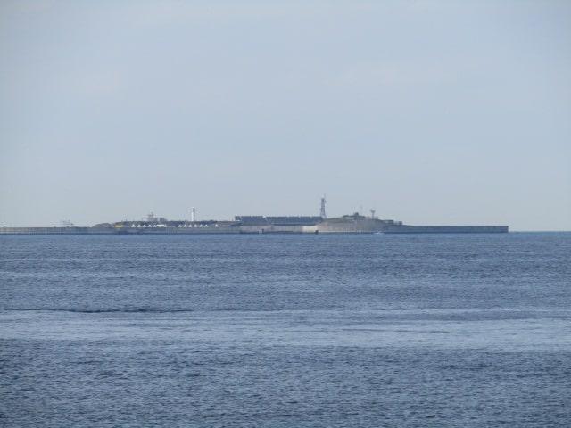 東京湾の第二海堡です。