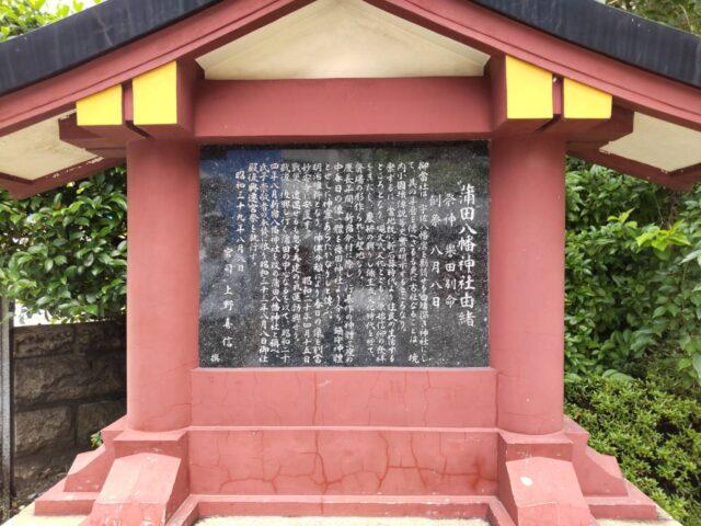 蒲田八幡神社の由緒です。
