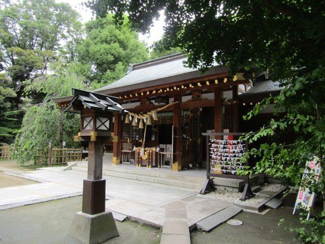 大田区の新田神社の拝殿です。