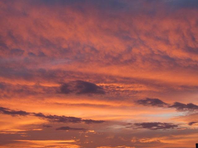 糀谷の夕焼け空です。